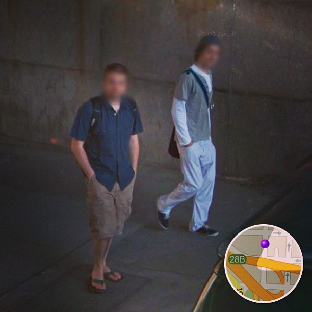 Rob LaPlaca photographed by Google street view camera